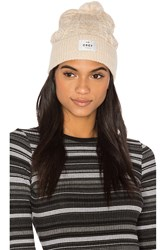 Obey Freja Cable Pom Beanie White