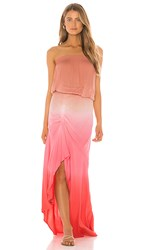 Young Fabulous And Broke Dreamboat Dress In Pink. Hot Pink Ombre