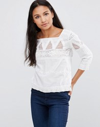 Pepe Jeans Dolina Embroidered Blouse White