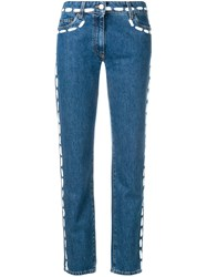 Moschino Painted Stitch Jeans Blue