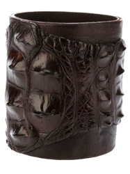 Ivo Scunzani Crocodile Leather Cuff Brown