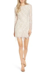 Fire Women's Scalloped Lace Minidress Ivory