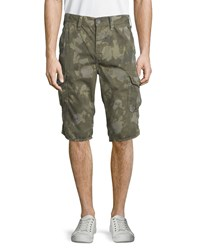 True Religion Trooper Camo Print Cargo Shorts Camo Wash Women's