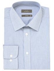 John Lewis Fine Check Tailored Fit Shirt Navy