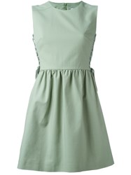Red Valentino Corset Detail Dress Green