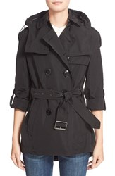 Burberry Women's Brit 'Knightsdale' Belted Drop Tail Hooded Trench Coat