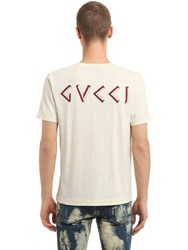 Gucci Printed Vintage Cotton Jersey T Shirt