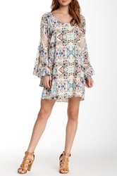 Voom By Joy Han Ivy Bell Sleeve Dress White