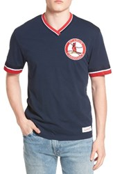 Mitchell And Ness Men's St. Louis Cardinals Vintage V Neck T Shirt