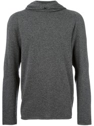 Calvin Klein Collection V Neck Hoodie Grey