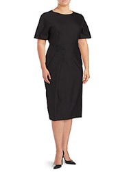 Jil Sander Solid Short Sleeve Dress Black