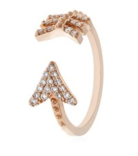 Bee Goddess White Diamond Eros Midi Ring Female