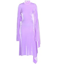 Vetements Velvet Turtleneck Dress Purple