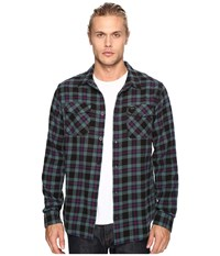 Rvca That'll Work Flannel Long Sleeve Pirate Black Men's Clothing