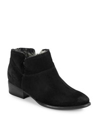 Seychelles Snare Faux Fur Lined Suede Booties Black