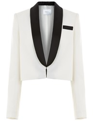 Racil Ivory Dallas Cropped Tuxedo Jacket White