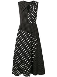 Paul Smith Ps By Polka Dot Midi Dress Black