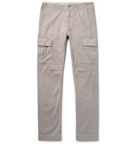 Jean Shop Gene Slim Fit Cotton Twill Cargo Trousers Stone