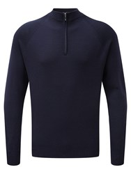 Tog 24 Men's Calder Mens Merino Zip Neck Navy