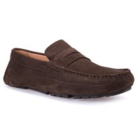 Geox Melbourne Driving Moccasin Loafers Chocolate