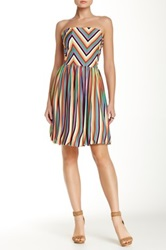 Felicity And Coco Strapless Stripe Dress Multi