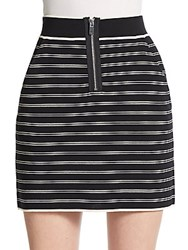 Rag And Bone Regan Striped Body Con Skirt Black
