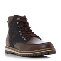 Lacoste Montbard Boot Apron Detail Lace Up Boots Dark Brown