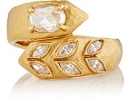 Cathy Waterman Women's Deconstructed Garland Ring Colorless