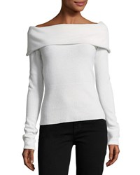 Christopher Fischer Cashmere Off The Shoulder Sweater White