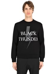 Neil Barrett Thunder Bolt Printed Neoprene Sweatshirt