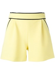Boutique Moschino Contrast Trim Shorts Yellow Orange