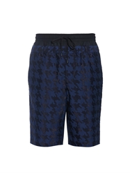 Public School Hound's Tooth Woven Jacquard Shorts