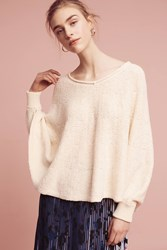 Anthropologie Draped Poncho Pullover Cream