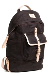 Will Leather Goods Canvas Backpack Black