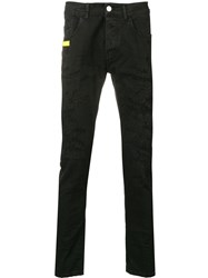 Frankie Morello Slim Fit Jeans Black