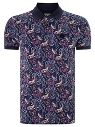 Pretty Green Sefton Paisley Polo Top