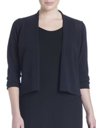 Eileen Fisher Plus Size Three Quarter Sleeve Short Cardigan Black