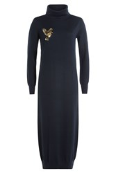 Markus Lupfer Merino Wool Sweater Dress Blue
