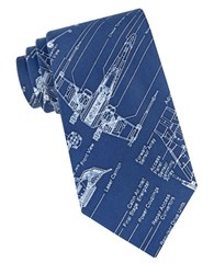 Star Wars X Wing Fighter Blue Print Tie Navy