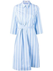 Jil Sander Striped Shirt Dress Blue