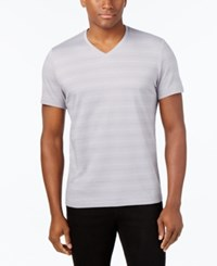 Alfani Men's Slim Fit T Shirt Only At Macy's Smooth Silver