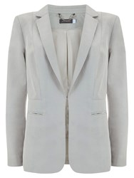 Mint Velvet Easy Boyfriend Blazer Chalk White