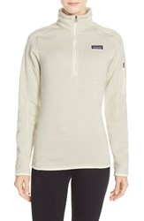 Women's Patagonia 'Better Sweater' Zip Pullover Raw Linen