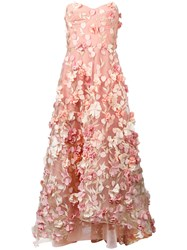Marchesa Notte Gathered Petal Gown Women Polyester 8 Pink Purple