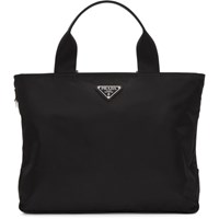 Prada Black Nylon Small East West Tote