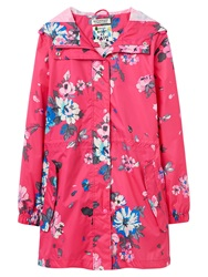 Joules Golightly Printed Waterproof Parka Pink Posy