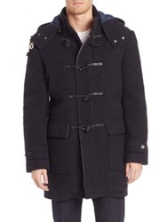 Cole Haan Wool Blend Toggle Coat