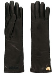 Moschino Teddy Charm Gloves Brown