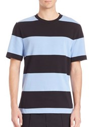 Alexander Wang Engineered Stripe Short Sleeve Tee Dolphin