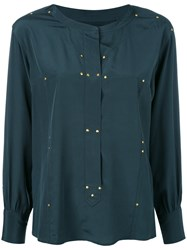 Isabel Marant Studded Otto Blouse Women Silk Brass 38 Green